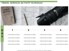 Travel Services Activity Schedule Ppt PowerPoint Presentation Pictures Vector