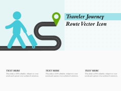 Traveler Journey Route Vector Icon Ppt PowerPoint Presentation Layouts Designs