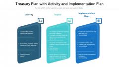 Treasury Plan With Activity And Implementation Plan Ppt Portfolio Templates PDF