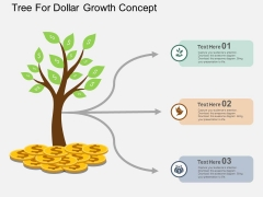 Tree For Dollar Growth Concept Powerpoint Template
