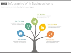 Tree Infographics For Market Development Strategy Powerpoint Template