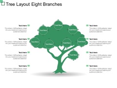 Tree Layout Eight Branches Ppt PowerPoint Presentation Styles Slides