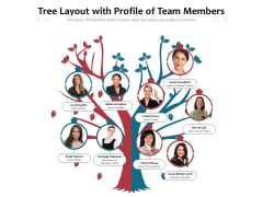 Tree Layout With Profile Of Team Members Ppt PowerPoint Presentation File Example Topics PDF