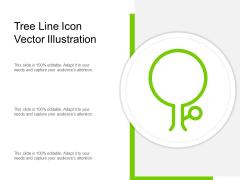 Tree Line Icon Vector Illustration Ppt PowerPoint Presentation Design Ideas PDF