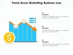 Trend Arrow Illustrating Business Loss Ppt PowerPoint Presentation Slides Introduction PDF