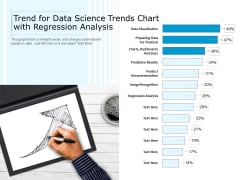 Trend For Data Science Trends Chart With Regression Analysis Ppt PowerPoint Presentation Visual Aids Layouts PDF