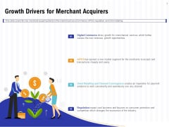 Trends And Emerging Areas In Merchant Acquiring Industry Growth Drivers For Merchant Acquirers Formats PDF