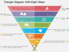 Triangle Diagram With Eight Steps Powerpoint Templates