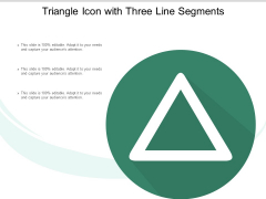 Triangle Icon With Three Line Segments Ppt PowerPoint Presentation Layouts Elements