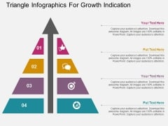 Triangle Infographics For Growth Indication Powerpoint Template