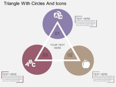 Triangle With Circles And Icons Powerpoint Template