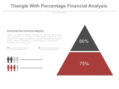 Triangle With Two Segments And Percentage Values Powerpoint Slides