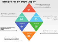 Triangles For Six Steps Display PowerPoint Templates