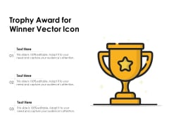 Trophy Award For Winner Vector Icon Ppt PowerPoint Presentation File Gallery PDF
