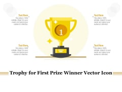 Trophy For First Prize Winner Vector Icon Ppt PowerPoint Presentation Model Graphics Design PDF