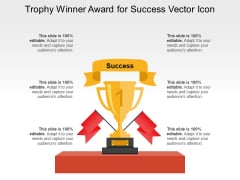 Trophy Winner Award For Success Vector Icon Ppt PowerPoint Presentation Icon Gallery PDF