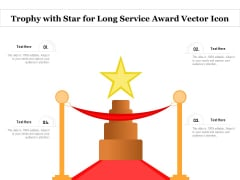 Trophy With Star For Long Service Award Vector Icon Ppt PowerPoint Presentation Infographic Template Templates PDF