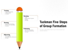 Tuckman Five Steps Of Group Formation Ppt PowerPoint Presentation Portfolio Graphics Tutorials PDF