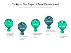 Tuckman Five Steps Of Team Development Ppt PowerPoint Presentation Pictures Graphics Design PDF