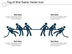 Tug Of War Game Vector Icon Ppt PowerPoint Presentation Slides Outline PDF