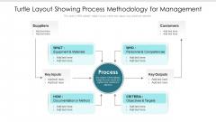 Turtle Layout Showing Process Methodology For Management Ppt PowerPoint Presentation Model Mockup PDF