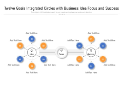 Twelve Goals Integrated Circles With Business Idea Focus And Success Ppt PowerPoint Presentation Gallery Examples PDF