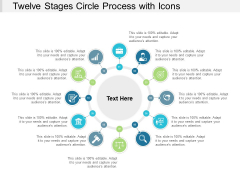 Twelve Stages Circle Process With Icons Ppt PowerPoint Presentation Gallery Tips