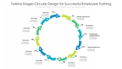Twelve Stages Circular Design For Successful Employee Training Ppt PowerPoint Presentation File Objects PDF