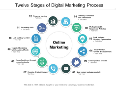 Twelve Stages Of Digital Marketing Process Ppt PowerPoint Presentation Model Portrait