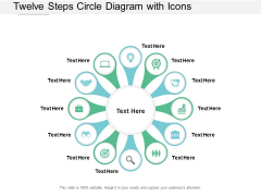 Twelve Steps Circle Diagram With Icons Ppt PowerPoint Presentation Professional Maker