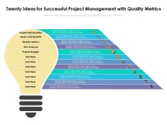 Twenty Ideas For Successful Project Management With Quality Metrics Ppt PowerPoint Presentation Model Rules PDF