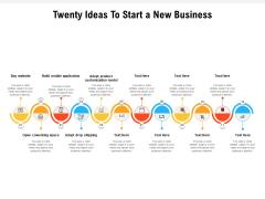Twenty Ideas To Start A New Business Ppt PowerPoint Presentation Show Influencers PDF