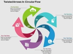 Twisted Arrows In Circular Flow PowerPoint Templates