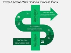 Twisted Arrows With Financial Process Icons Powerpoint Template