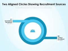 Two Aligned Circles Showing Recruitment Sources Ppt PowerPoint Presentation Gallery Layout PDF