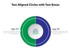 Two Aligned Circles With Text Boxes Ppt PowerPoint Presentation Styles Graphics PDF