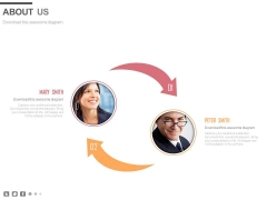 Two Arrows Design For Business Communication Powerpoint Slides