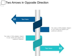 Two Arrows In Opposite Direction Ppt PowerPoint Presentation Slides Background Images