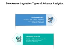 Two Arrows Layout For Types Of Advance Analytics Ppt PowerPoint Presentation Outline File Formats