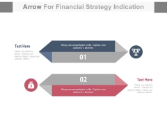 Two Arrows Tags For Financial1 Success Strategy PowerPoint Slides