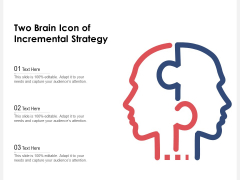 Two Brain Icon Of Incremental Strategy Ppt PowerPoint Presentation File Graphics Design PDF