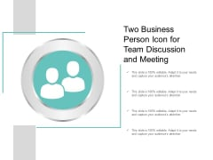 Two Business Person Icon For Team Discussion And Meeting Ppt Powerpoint Presentation Layouts Clipart