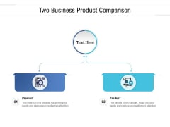 Two Business Product Comparison Ppt PowerPoint Presentation Styles Vector PDF