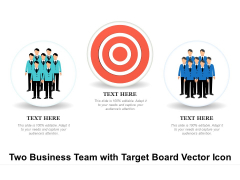 Two Business Team With Target Board Vector Icon Ppt PowerPoint Presentation File Example PDF