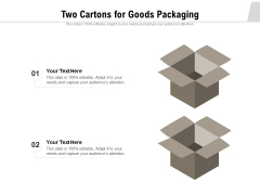 Two Cartons For Goods Packaging Ppt PowerPoint Presentation Gallery Inspiration PDF