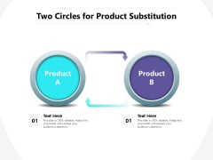 Two Circles For Product Substitution Ppt PowerPoint Presentation Layouts Tips PDF