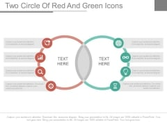 Two Circles Venn Diagram With Icons Powerpoint Slides