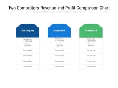 Two Competitors Revenue And Profit Comparison Chart Ppt PowerPoint Presentation File Topics PDF