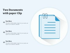Two Documents With Paper Clip Ppt PowerPoint Presentation Summary Designs Download PDF