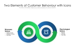 Two Elements Of Customer Behaviour With Icons Ppt PowerPoint Presentation File Templates PDF